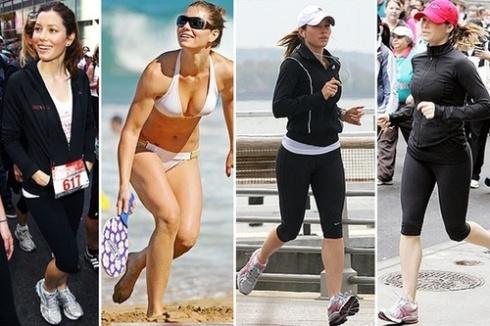 Jessica Biel træning