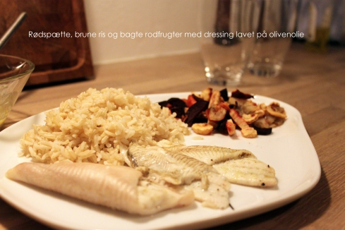 Rødspætte, ris og rodfrugt