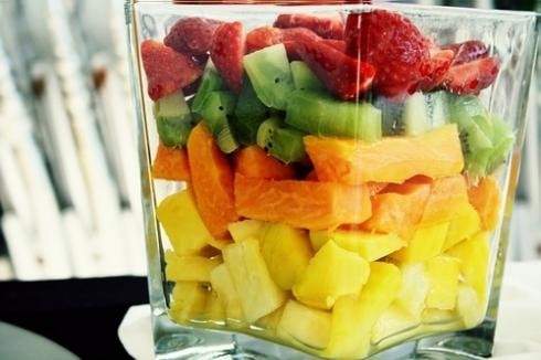 Blendet frugt