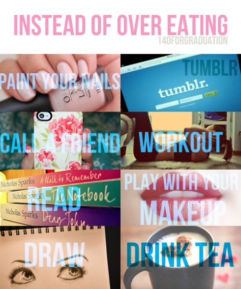 Instead of overeating